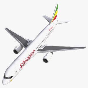 3d boeing 757 200 ethiopian