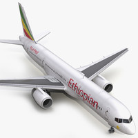 boeing 757 200 ethiopian 3d model