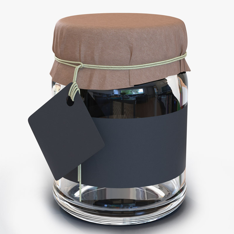 3d model glass jar 3