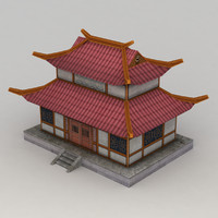 Lowpoly Chinese Building