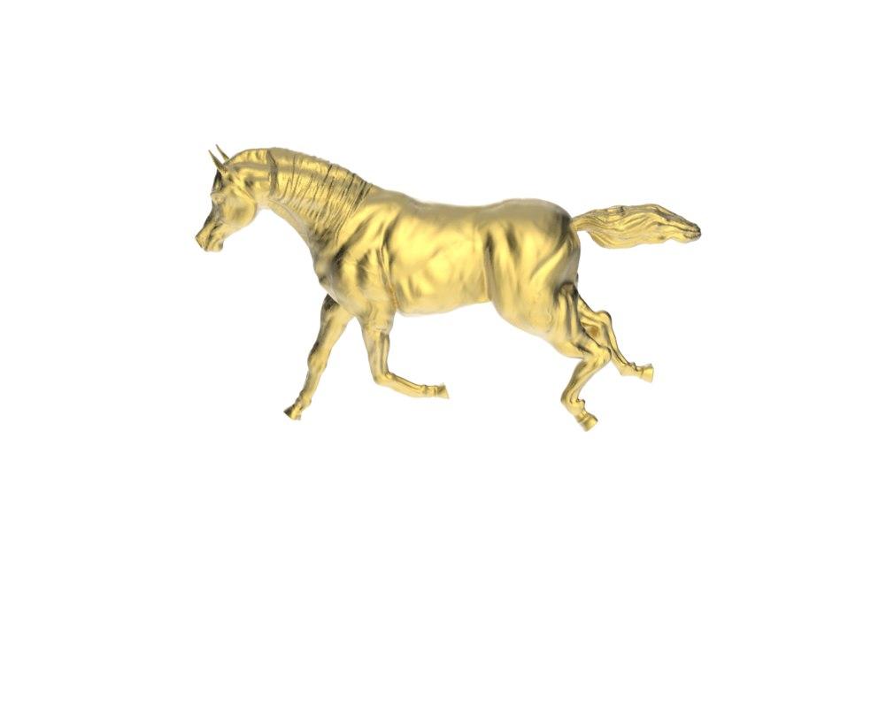 3d model arabic galloping horse