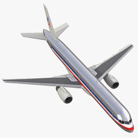 boeing 757-200 american airlines 3d max