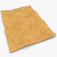 crumpled paper brown beige 3d max