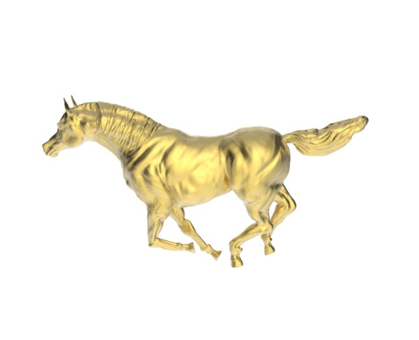 3d model arabic galloping horse