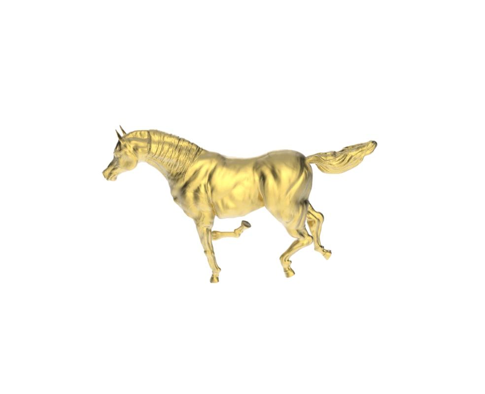 obj arabic galloping horse