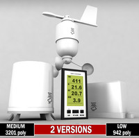 weather meteo station wireless 3d model