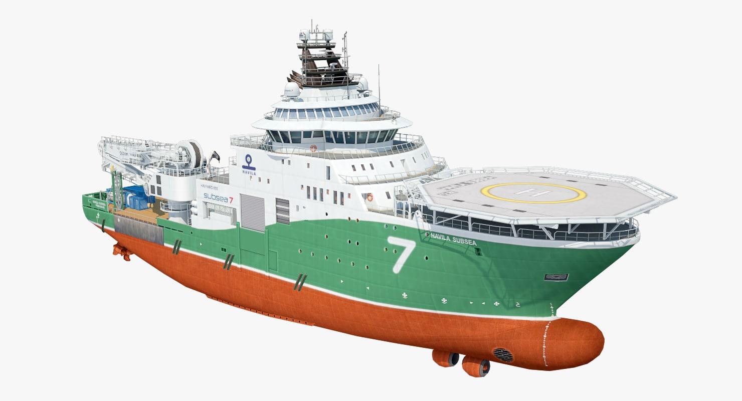industrial vessel havila 3d max