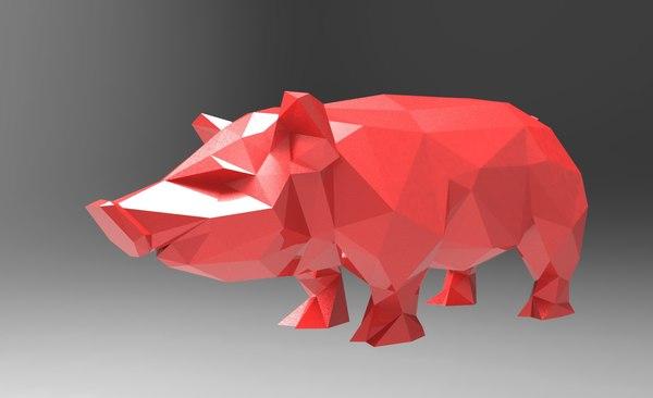 3d pig printing model