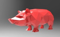 Pig low poly