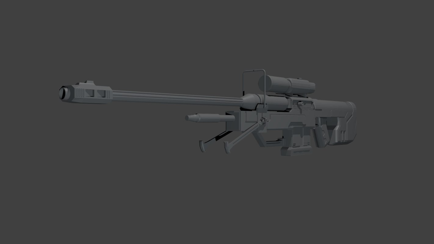 3d halo sniper rifle