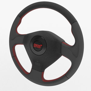 3d sports car wheel wrx sti