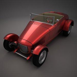 antique hot rod car 3ds