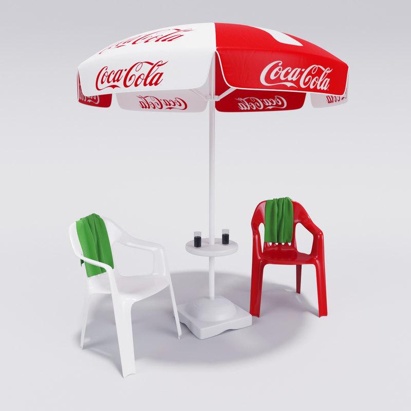 3d Coca Cola Umbrella