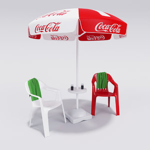 3d coca-cola umbrella
