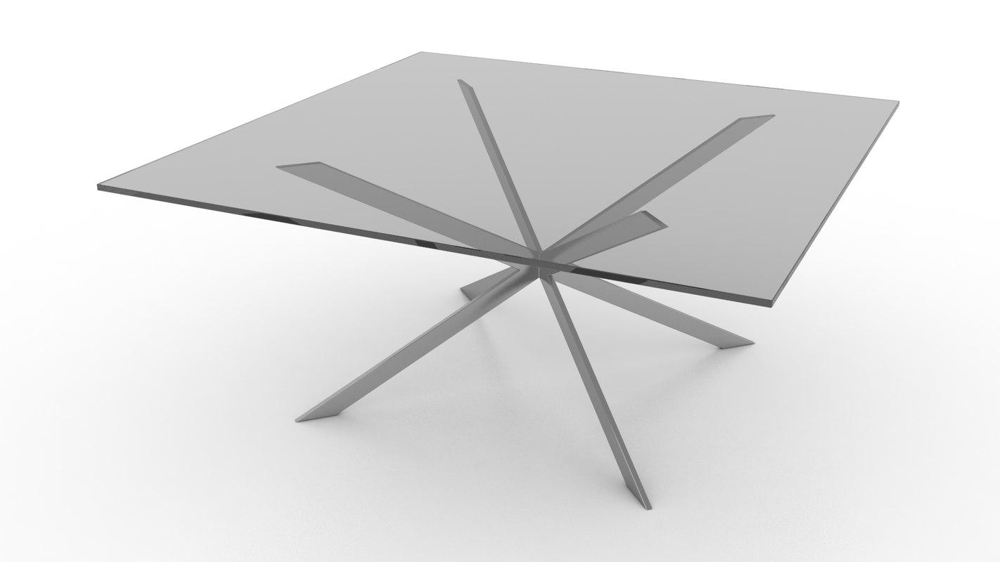 sputnik cocktail table 3d 3ds