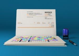 3d creative laptop papers model