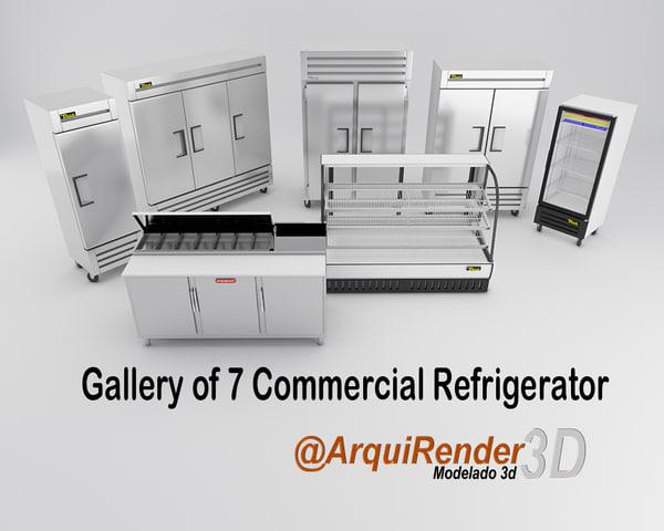 3d model of gallery commercial refrigerators