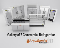 3d model of gallery commercial refrigerators