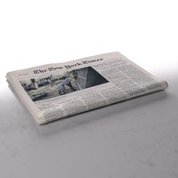 3d model new york newspaper folds