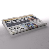 daily telegraph folds 3d model