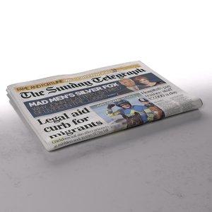 daily telegraph folds 3d model