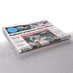 3d usa day folds model