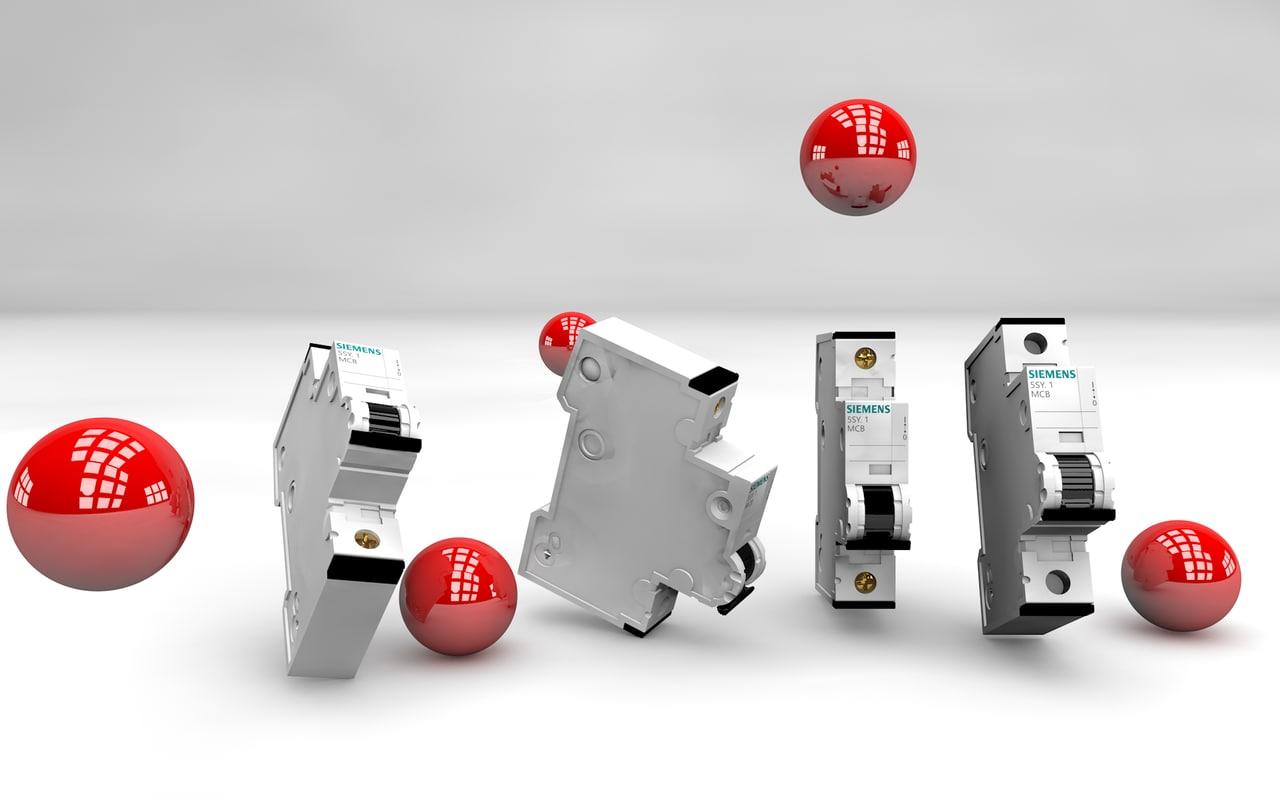 3d model siemens disjoncteur