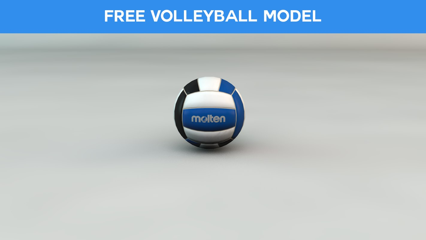 free ball volleyball 3d model