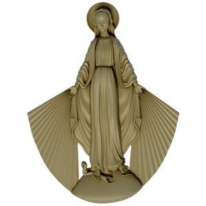 3d model virgin mary
