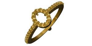 3d gold ring model