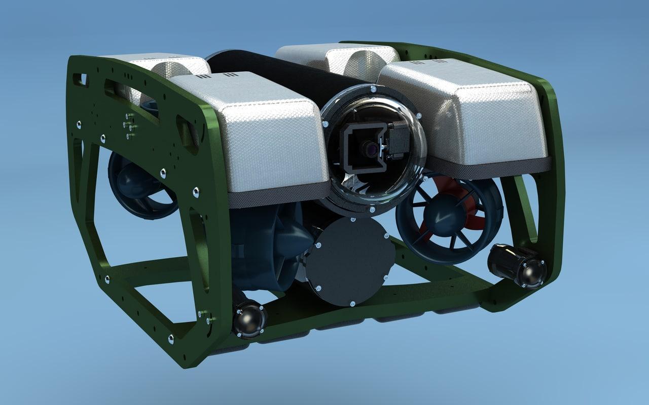 submarine rov c4d