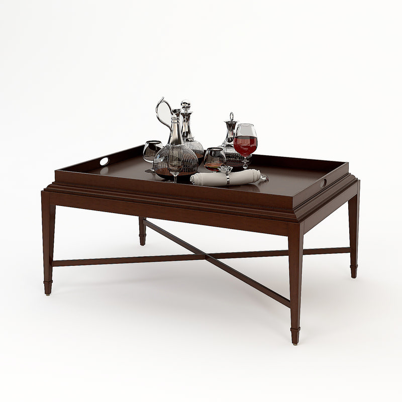 barry tray coffee table obj