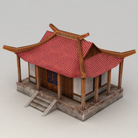 Lowpoly Chinese Building 3