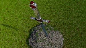 sword excalibur 3d model