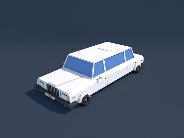 limo limousine 3d 3ds
