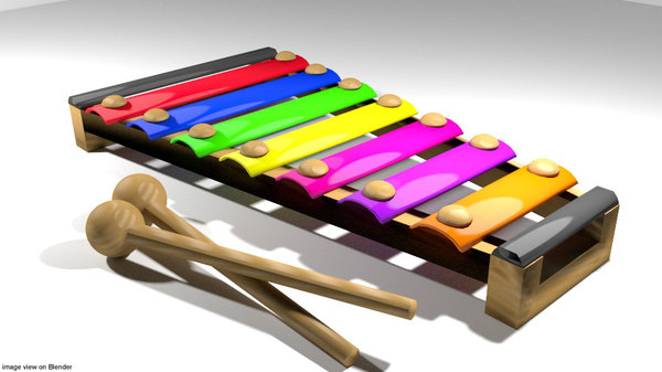 synthesizer toy 3d model