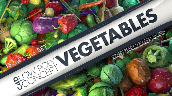 obj vegetables concept stylized
