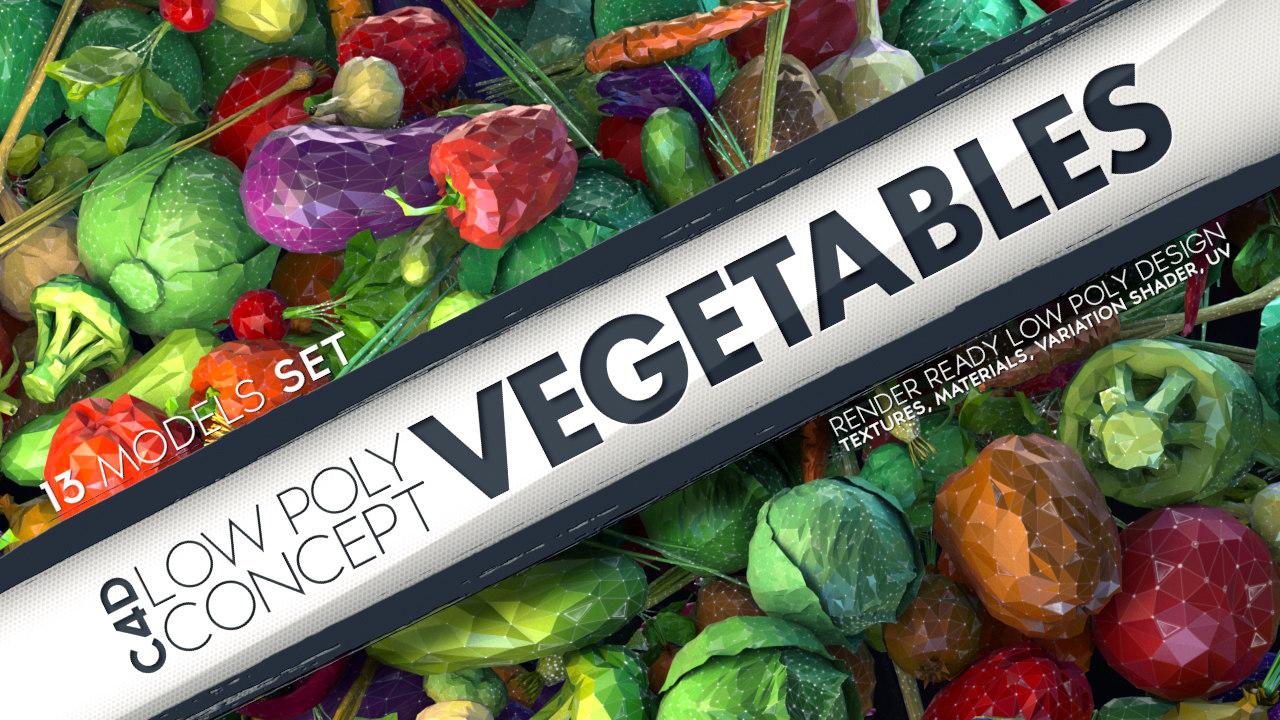 obj vegetables concept stylized