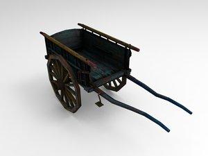 bull cart 3d model