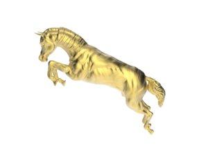 arabic horse 3d obj