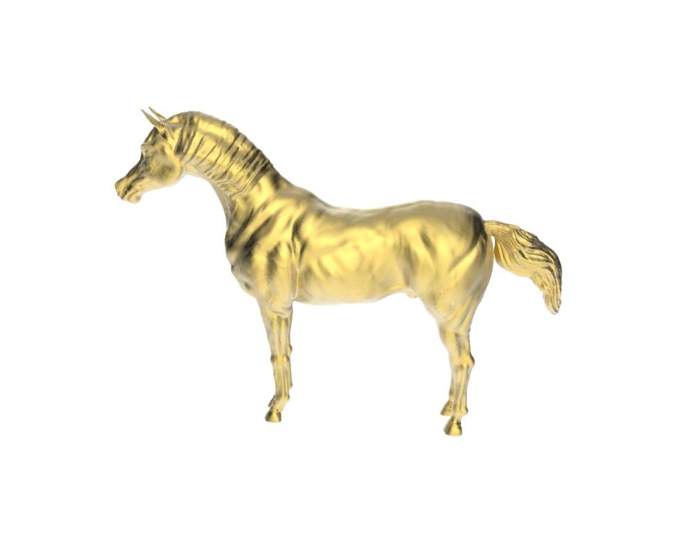 3d model arabic standstill horse