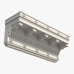 3d corinthian architrave frieze greco model