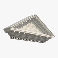 3d pediment greco roman