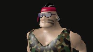 commando character 3ds