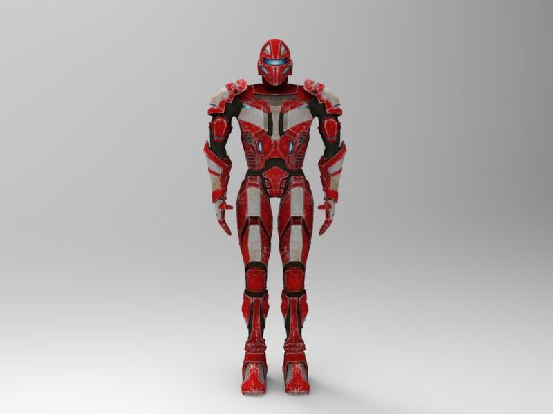 human warrior 3d max