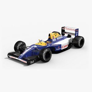 3d model williams fw14b formula 1