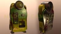 custom perk machine banana 3d model