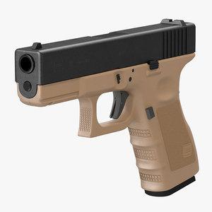 glock 19 brown c4d