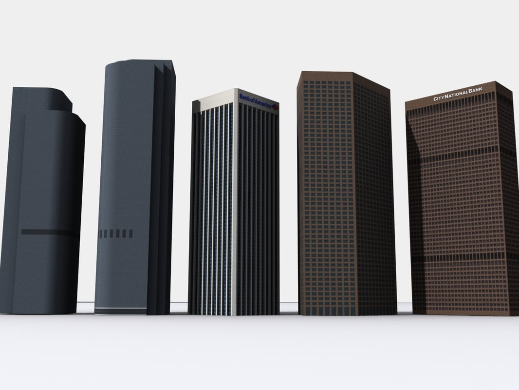 skyscrapers los angeles pack 2 3d 3ds