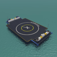 3d barge spacex model